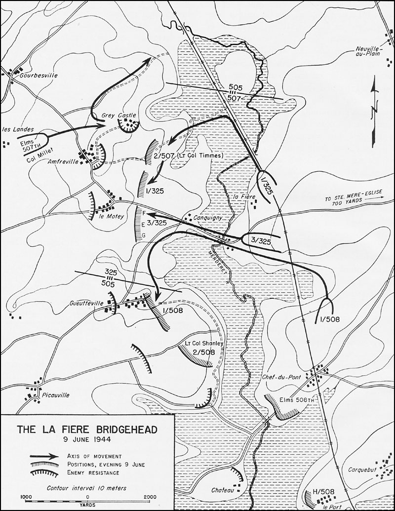 The next evening 357IR would follow in the trace of 3/325, who were still engaged, defending the bridgehead.